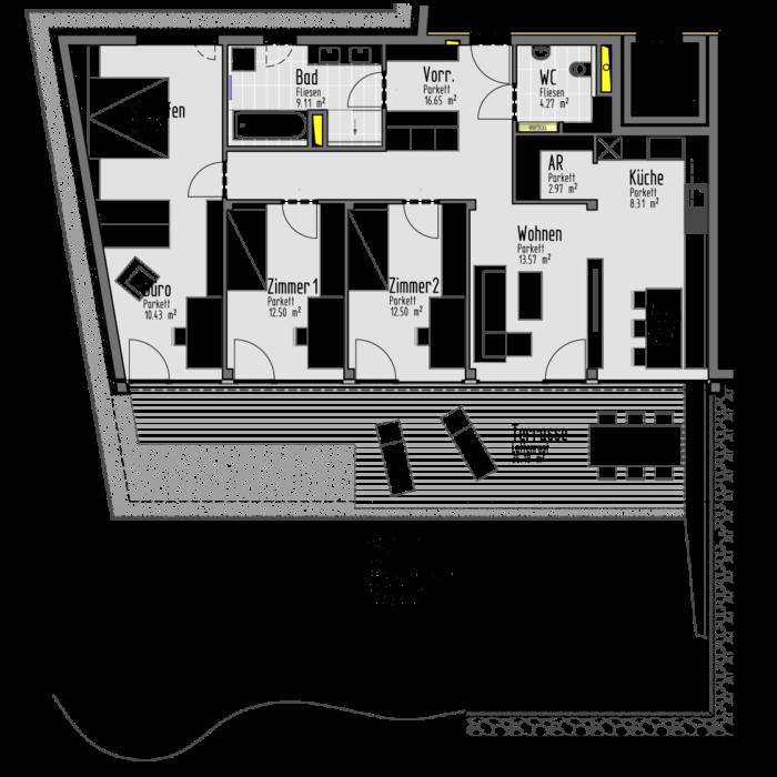 Plan Eigentumswohnung WG 1